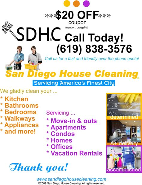 craigslist house cleaning service san diego house cleaning san diego ca 92109 619 838 3576