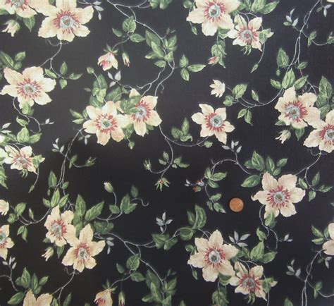 black floral upholstery fabric bryant industries bryantguard black floral upholstery