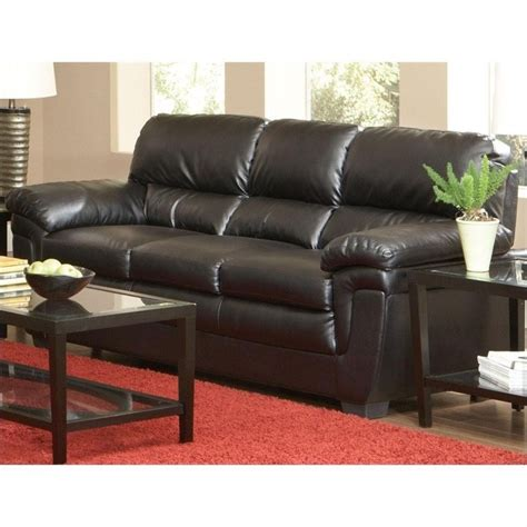 What Is Split Leather Sofa by Coaster Fenmore Casual Split Back Leather Sofa In Black