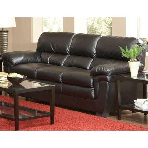 split leather sofa coaster fenmore casual split back leather sofa in black