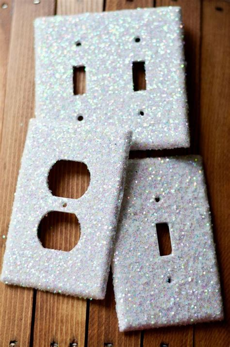 decorative iridescent glitter lightswitch light switch