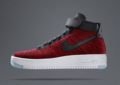 imagenes nike air force one nike flyknit air force 1 mid quot university red quot sbd