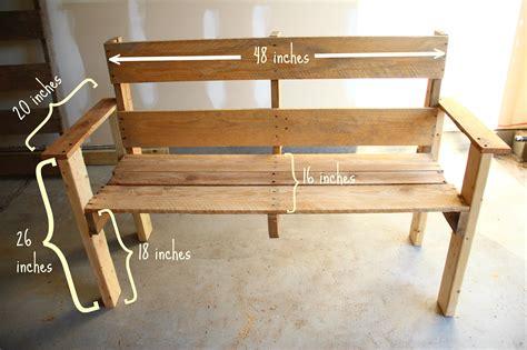 pallet bench pinterest doleenoted diy pallet bench