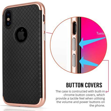 Bumper List Gold Iphone 44s Iphone 55a apple iphone x crosshatch tpu pc gel gold
