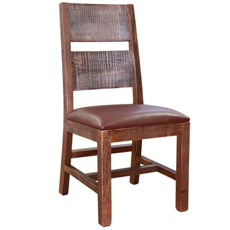 rustic leather dining chairs white and brown rustic style solid wood dining chair faux