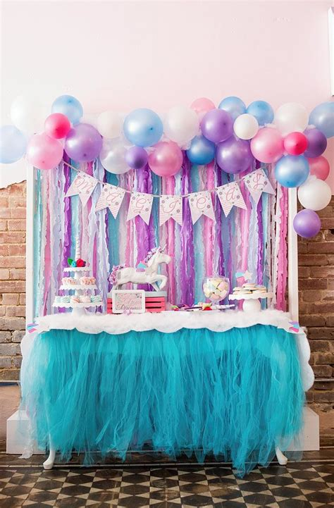 party themes on pinterest magical unicorn party girl birthday party ideas themes