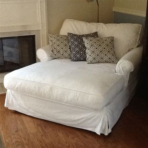 white cotton slipcovers details about potterybarn sofa u love chaise chair couch