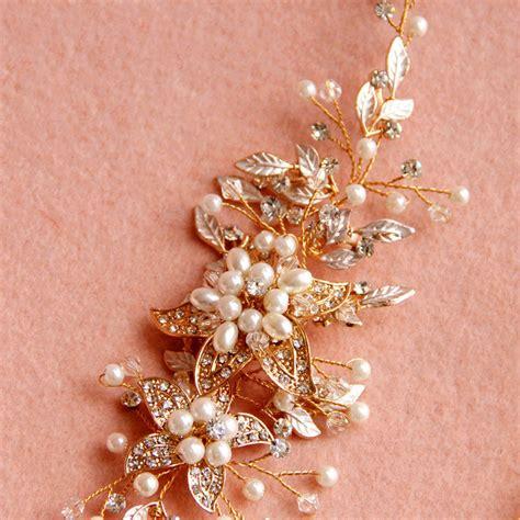 vintage bridal hair accessories to buy buy wholesale vintage gold pearl flower