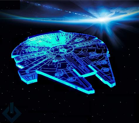 Wars Light Of The by Millennium Falcon Model Wars Light L Led Sign