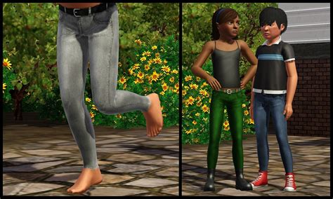 child sims 3 jeans mod the sims jeans that fit into boots all ages both