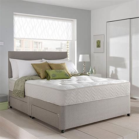 grey suede headboard grey suede memory foam divan bed set with mattress