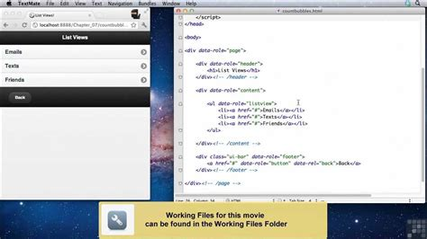 jquery mobile tutorial jquery mobile tutorial count bubbles infiniteskills