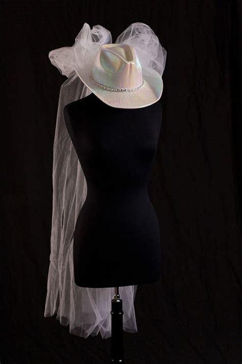 wedding cowboy hats with veils cowboy hat wedding veil bridal hat western wedding veil