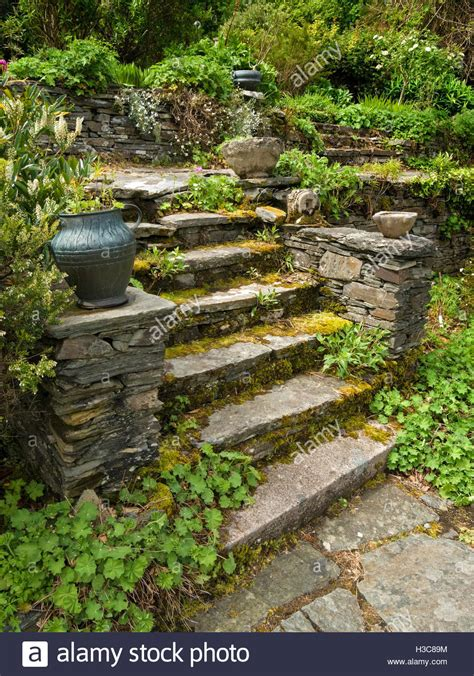 steps to buying a house in scotland old overgrown rustic stone steps with urn colonsay