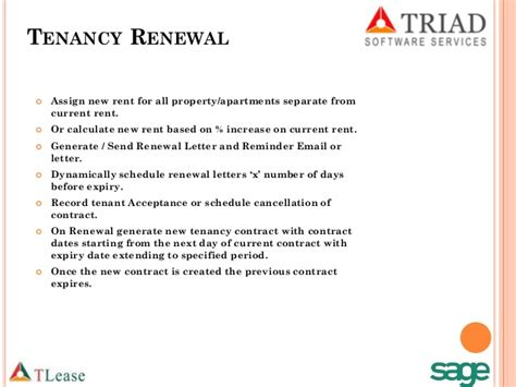 Lease Renewal Letter With Rent Increase Real Estate Leasing Add On Www Triadme