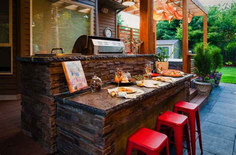 Kitchen Island With Sink And Seating 20 spectacular outdoor kitchens with bars for entertaining