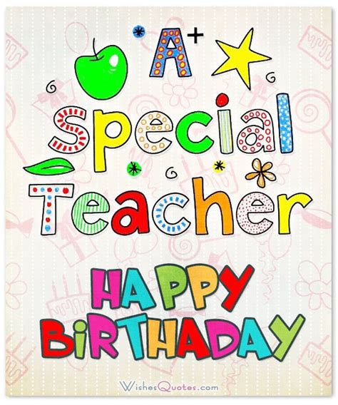 Happy Birthday Greeting Cards For Teachers Best 25 Birthday Wishes To Teacher Ideas On Pinterest