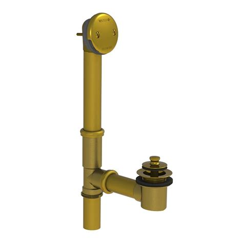 bathtub drain stopper removal lift and turn watco 501 series 16 in tubular brass bath waste with lift