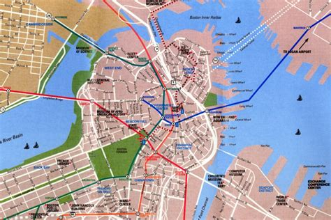 map boston map boston massachusetts