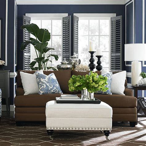 white and brown living room coastal shore creations navy and white coastal living rooms