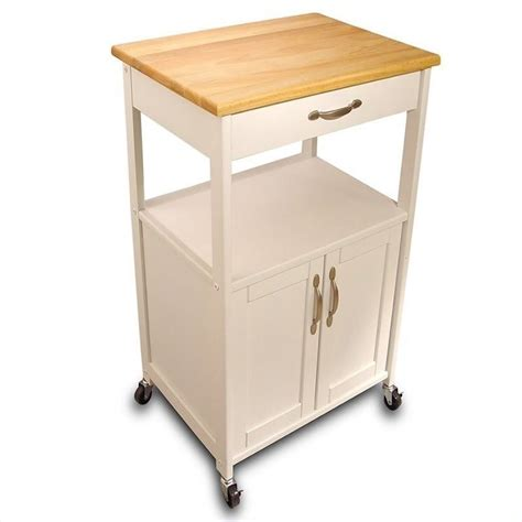catskill craftsmen butcher block kitchen cart ebay
