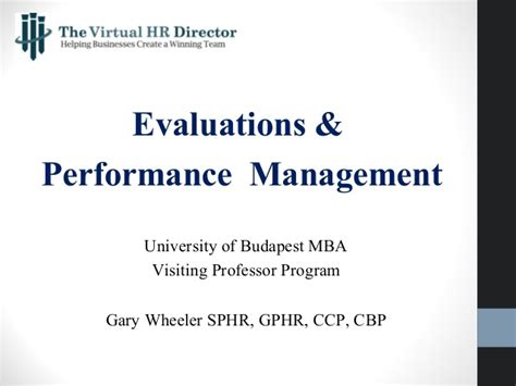 Enterprise Performance Management Mba by Evaluations Performance Management 5 9 15