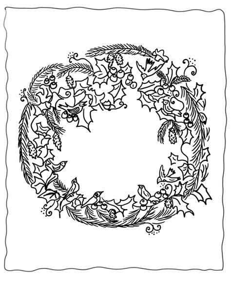 coloring page of a wreath coloring pages wreaths az coloring pages
