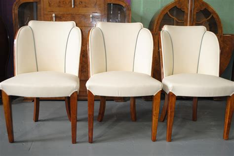 Art Deco Armchairs Epstein Dining Table And 6 Cloud Back Chairs In Fiddle