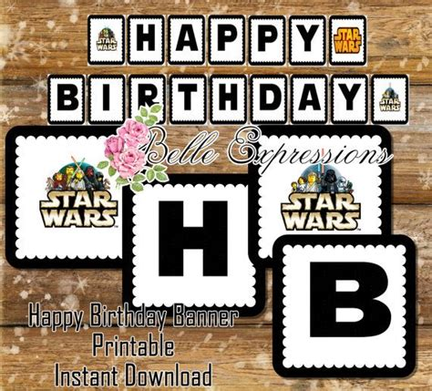 printable lego star wars birthday banner 1000 images about lego parties star wars batman on