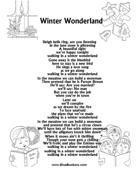 printable christmas carol song lyrics song lyrics