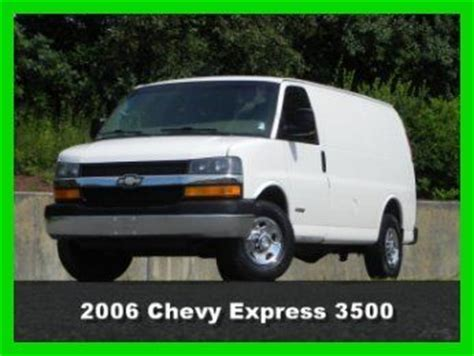 how make cars 2006 chevrolet express 3500 regenerative braking sell used 2006 chevrolet chevy express 3500 cargo van 2wd 2x2 6 0l vortec gas cloth 139wb in