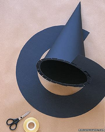How To Make A Paper Witch Hat - wizard and witch costumes witches hats step by step