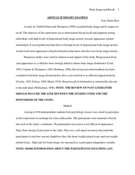 journal article summary template sle journal article summary apa format milviamaglione