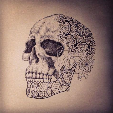 tattoo mandala skull done by rebecca zombie smania tattooist at la malafede
