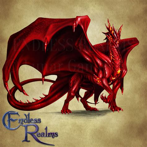 endless realms bestiary ruby dragon by jocarra on deviantart