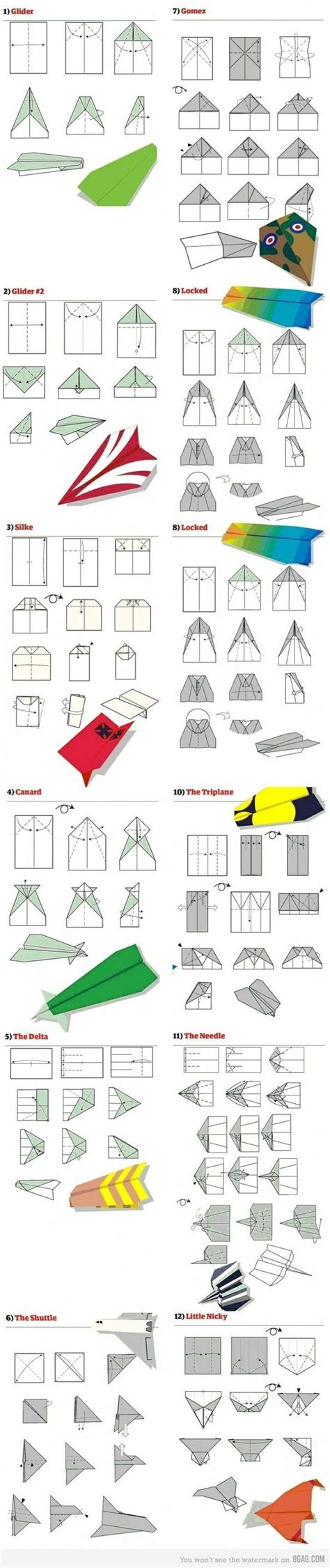 How To Make Different Types Of Paper Airplanes - how to fold different types of paper planes by