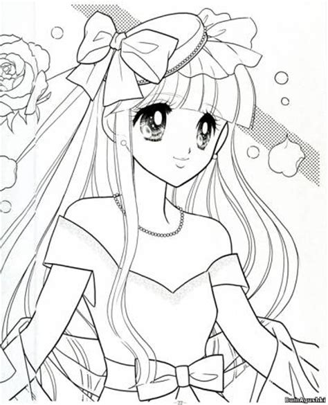 Colouring Book Sweet Princess anime shoujo coloring pages vintage coloring book