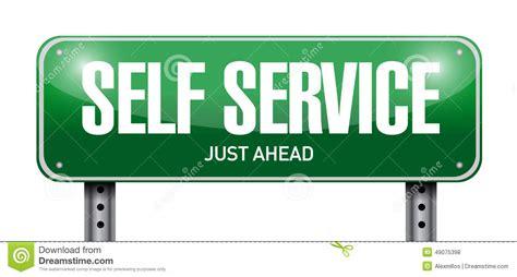 selve serve self service road sign illustration design stock