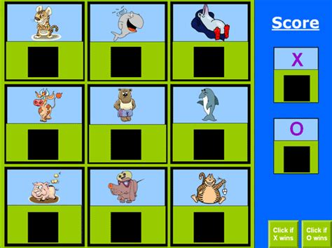 Classroom Squares Games Template Scoreboard Template For Powerpoint