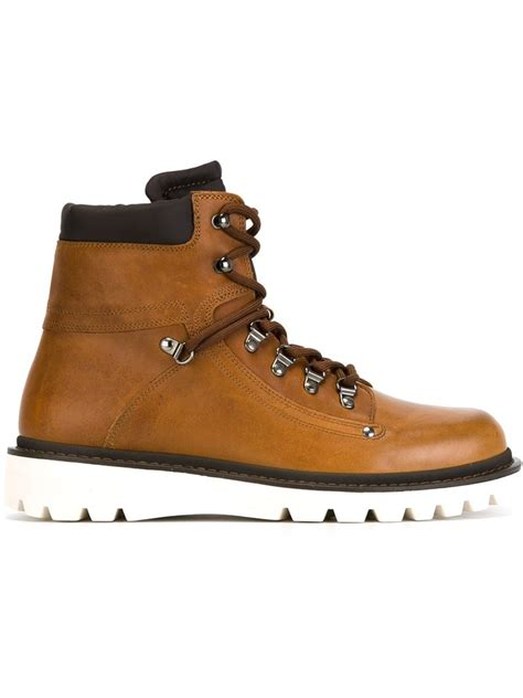 mens moncler boots moncler egide boots in brown for lyst