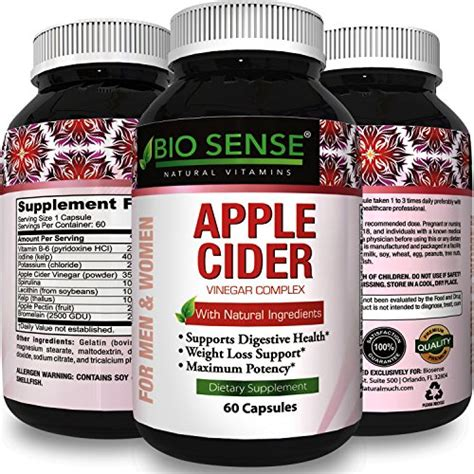 Detox Burning Pills by Apple Cider Vinegar Pills For Weight Loss Strength