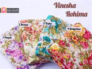 Kanaya Tunik Murah jilbab segiempat motif bunga zabara store