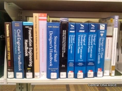 reference books civil engineering reference books central ohio asce
