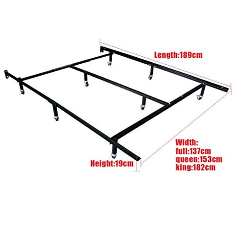 Hlc Smart 8 Wheel Metal Bed Frame 3 Adjustable Sizes Wheel For Bed Frame