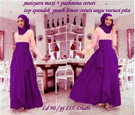 139 Gamis Pesta Muslimah Bordir Ungu Muda gamis remaja maisyara ungu ceruti koleksi busana muslimah modern model terbaru