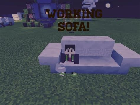 how do you make a couch on minecraft minecraft pe how to build a working couch youtube