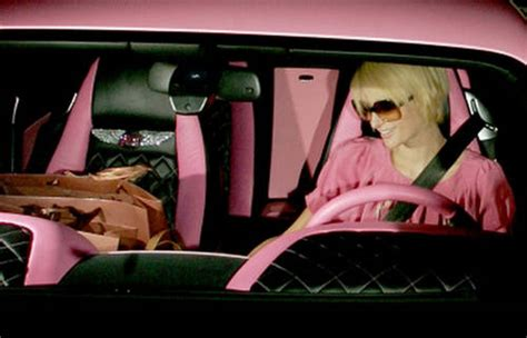 pink bentley interior paris hilton encrusted pink bentley car