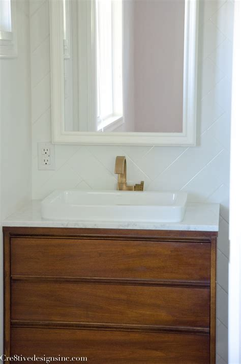 mid century modern sink vanity designing a tiny bathroom cre8tive designs inc