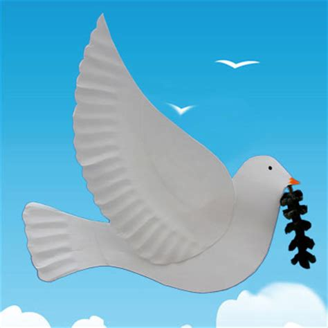Paper Dove Craft - peace dove craft tutorial animaplates