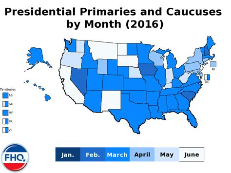 Caucus Calendar Frontloading Hq The 2016 Presidential Primary Calendar